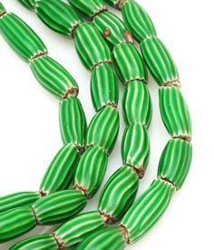 African Watermelon Trade Beads! Love, love.  www.beadazzled.com