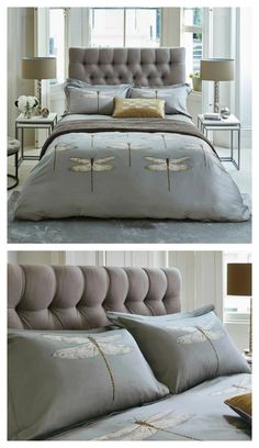 Adapted from the stunning Demoiselle design from Harlequin's Palmetto collection, this gorgeous double duvet features beautifully illustrated, large scale dragon flies set against a luxurious, graphite colour.