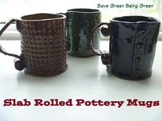Save Green Being Green: Pottery Time: Mugs