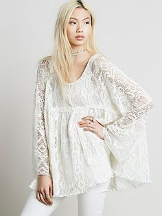 Free People Womens Ripped and Torn Babydoll