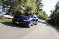 #Maserati #Ghibli #2017 #Front #Blue #Blau