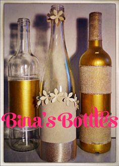 Bina's Bottles on Etsy- unique decorative glass bottles
