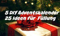 Der erste Advent naht! Deshalb habe ich für euch 5 DIY Adventskalender Ideen und 25 Ideen für die Füllung zusammengefasst