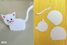 paper magic craft for kıds Preschool Arts And Crafts, Animal Crafts For Kids, Craft Activities, Art For Kids, Color Paper Crafts, Paper Crafts For Kids, Magic Crafts, Cat Crafts, Origami