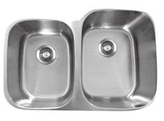 "Genesis 20.75"" x 32"" Double Bowl Kitchen Sink"