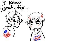 I know what for England, America Spamano, Usuk, Fandom Jokes, Animes On, Hetalia Axis Powers, Kaichou Wa Maid Sama, How To Make Comics, Historical Art, Hilarious