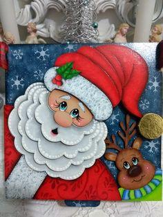 Christmas Canvas, Christmas Plates, Christmas Crafts For Kids, Xmas Crafts, Christmas Projects, Christmas Time, Christmas Ornaments, Christmas Drawing, Christmas Paintings