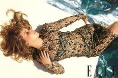 A glam Jennifer Lawrence in ELLE's December 2012 issue