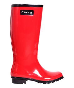 Take a look at the Roma Boots Red Rubber Rain Boot - Women on #zulily today!