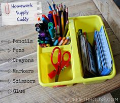 Our Fifth House: Organizing Homework Supplies (Back to School Preparation)