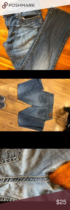 """Big Star Maddie Jeans Big Star Maddie Boot cut jeans. Inseam measures 27"""".  Some wear in the crotch and buttock area as seen in picture. Otherwise good used condition. Big Star Jeans Boot Cut"""