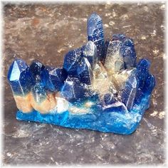 "A beautiful raw sapphire  ""The foundations of the city walls were decorated with every kind of precious stone. The first foundation was jasper, the second sapphire, the third agate, the fourth emerald,"" ~ Revelation 21:19"