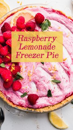 Raspberry Desserts, Raspberry Lemonade, Pink Lemonade, Summer Desserts, No Bake Desserts, Whipped Topping, Whipped Cream, 8 Oz Cream Cheese, Salted Butter
