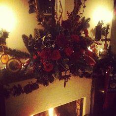 Handmade Christmas floral arrangement
