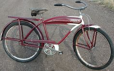 The Western Flyer bicycle was an amazingly cool and revolutionary antique bicycle design that was extremely popular in the middle of the century. Learn more about the Western Flyer bicycle here! Bicycle Safety, Old Bicycle, Antique Bicycles, Used Bikes, Real Steel, Bicycle Design, Vintage Bicycles, Tricycle, Westerns