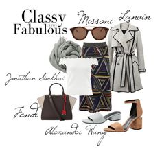 """""""Day Dreaming"""" by marissacollections on Polyvore featuring Brunello Cucinelli, Lanvin, Missoni, Linda Farrow, Alexander Wang, Jonathan Simkhai and Fendi"""