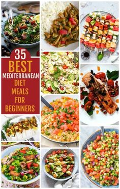 mediterranean recipes You'll love this list of the Best 35 Mediterranean Diet Meals for beginners. You will look forward to meal time with these easy Mediterranean recipes. Ketogenic Diet Meal Plan, Ketogenic Diet For Beginners, Diet Meal Plans, Ketogenic Recipes, Healthy Recipes, Delicious Recipes, Keto Recipes, Dash Diet Meal Plan, Diet Menu