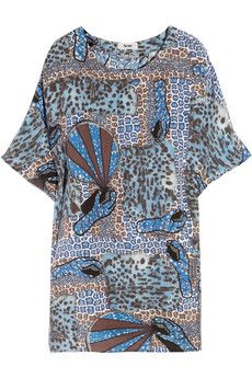 ACNE printed silk short dress - in collaboration with artist Daniel Silver.