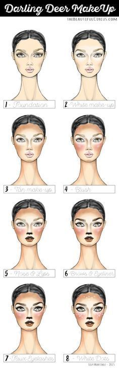 Deer FACES full step by step. by: Lily Martinez