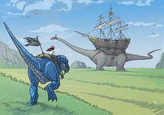Found on the web: dinosaur conveyance.