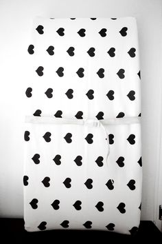 Woolf With Me™ Changing Pad Cover in White+Black Heart // Additional Colors