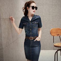 2016 sommer Stil Sexy Hüfte Frauen Denim Plus Größe Beiläufiges Club Bodycon Jeans Frauen Kleid