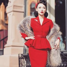 Pin up style ❤ Vintage Outfits, 50s Outfits, Vintage Style Dresses, Classy Outfits, Fashion Outfits, Rockabilly Mode, Rockabilly Fashion, 1950s Fashion, Vintage Fashion