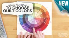 Learn all the benefits of using a color wheel when selecting #quilt colors…