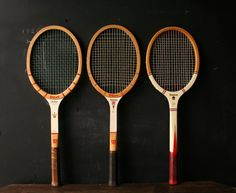 Vintage Tennis Rackets THREE Wilson and Magnan by nowvintage, $45.00