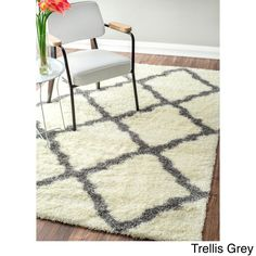 nuLOOM Soft and Plush Moroccan or Diamond Shag Rug