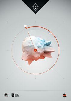 Shape for teeshirts -- Science posters by Petr Hlavizna, via Behance