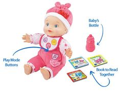 Gift Guide: Best Interactive Baby Dolls that Can Talk, Cry and Wet Interactive Baby Dolls, Vtech Baby, Baby Bottles, Your Child, Gift Guide, Books To Read, Teddy Bear, Learning, Toys