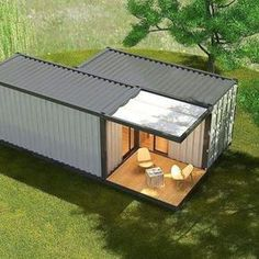 Source modular sea container house,customized ocean c - Tiny House Sea Containers, Sea Container Homes, Building A Container Home, Container Buildings, Container Architecture, Sustainable Architecture, Storage Container Homes, Cargo Container, House Architecture