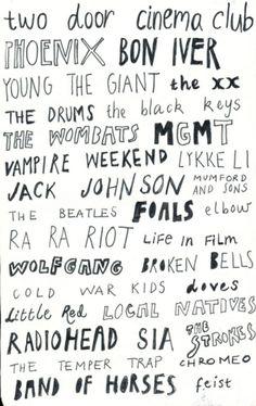 bands, bands, bands!