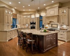 Kitchen Island With Granite Top And Breakfast Bar - Foter