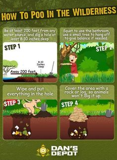 How To Poo in the Wilderness. Just an eye-grabber for those that don't know how | #survival #skills