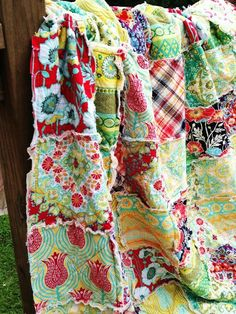 Twin Rag Quilt At the Hill ALL NATURAL by southerncharmquilts, $259.00  so pretty!