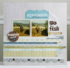 """Go fish LO Using """"the Sweetest Thing"""" collection from My Minds Eye  maryannjenkins.com"""