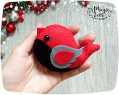 Adornos navideños pájaro fieltro adornos para por MyMagicFelt