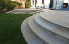 Portfolio | Bespoke Landscape Gardeners Surrey Front Stairs, Front Walkway, Interior Stair Railing, Garden Stairs, Cement Patio, Outdoor Stairs, Sloped Garden, Backyard Patio Designs, Garden Landscape Design