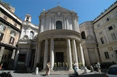 Iglesia de Santa Maria della Pace en Roma.