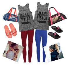 """""""Twins in the gym"""" by marisa-a-gaines ❤ liked on Polyvore featuring Black Diamond and NIKE"""