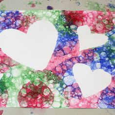 bubble art - maybe something like this with a giant 3rd birthday poster that everyone can participate in decorating?