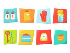 Dribbble - Cooking Time Icons by Alexa Dumas #icon  #badge