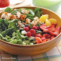 Gooseberry Patch Recipes: Bountiful Garden Salad. Full of fresh flavors - add grilled chicken if desired!