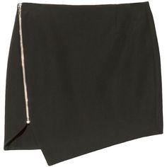 Nicholas Bonded Zip Skirt (790 BRL) ❤ liked on Polyvore featuring skirts, bottoms, saias, black, silk skirt, nicholas skirt, long silk skirt, long skirts and zip skirt