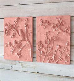 Decorative Terra Cotta Wall Plaque   Deck & Patio Accents