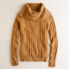 Cashmere Cable Cowlneck Sweater in Dark Poppy