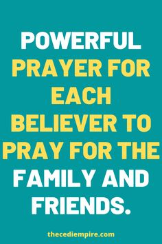 Powerful prayer for each believer to pray for the Family and friends. #Believer #Family #Friends #God #Jesus #catholicfaith #April2021 #Prayerinspiration #Powerful Miracle Prayer, Power Of Prayer, God Jesus, Believe, Prayers, Friends, Children, Amigos, Young Children