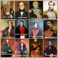 Resultado de imagen para personajes historicos de venezuela imagenes